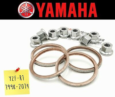 Exhaust Manifold Gasket Repair Set Yamaha YZF-R1 1998-2014 (Including Nuts)