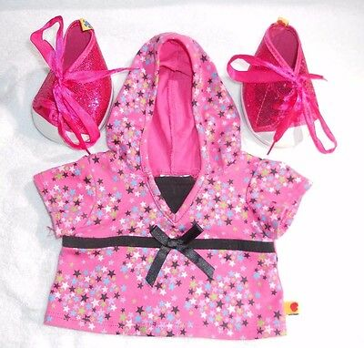 Build A Bear Clothes - Pink Hooded Top & Shoes