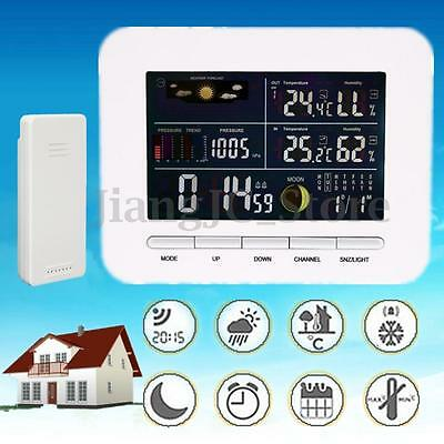 Wireless Weather Station Forecast Thermometer Humidity Wind Speed & Rain Sensor
