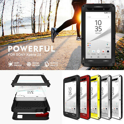 LOVE MEI Waterproof Shockproof Aluminum Metal 360Full Case Cover For Sony Xperia