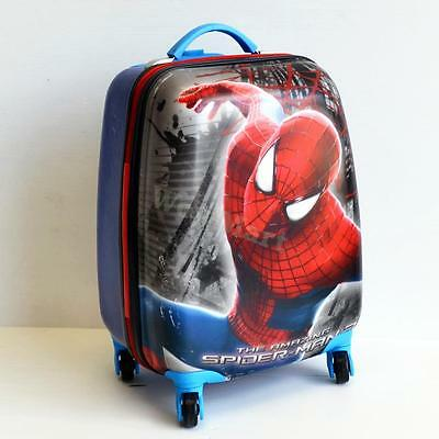 Kid Gift Wheeled Rolling Suitcase Travel Bag Luggage Trolley ( 4-Wheel Spider A)