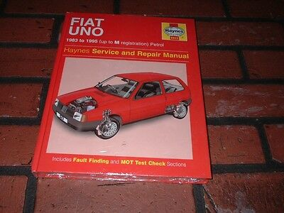 New  Haynes Manual For Fiat Uno. 1983 To 1995. Up To M Registration.