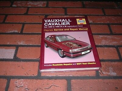 New & Sealed Haynes Manual For Vauxhall Cavalier. 1988-1995. F To N
