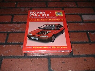 New Sealed Haynes Manual For Rover 214 & 414. 1989 To 1996.