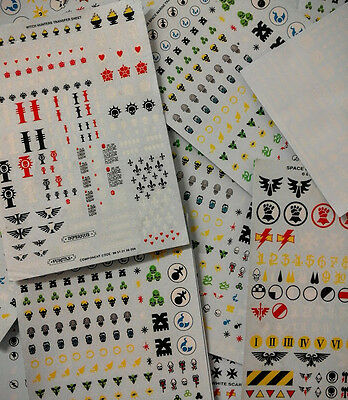 Warhammer 40k Decal Transfer Sheets. NEW & Complete