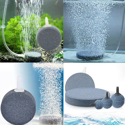 Aquarium Bubble Air Stones Fish Tank Oxygen Aerator Pump Hydroponic Diffuser New