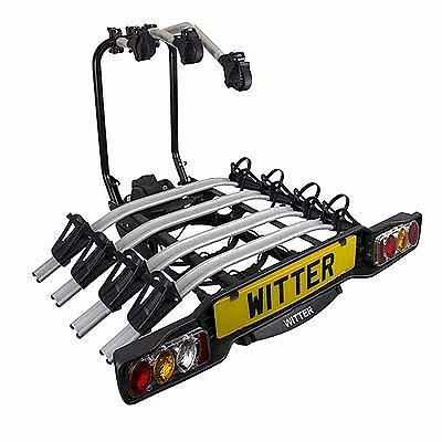 Witter ZX504 Innovative Tow ball Mounted Tilting 4 Bike Cycle
