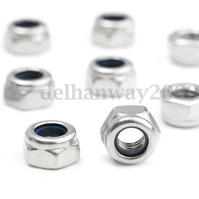 M2 M3 M4 M5 M6 M8 M10 M12 M14 M16 M18 Nylon Insert Lock Nut Nuts 304 Stainless