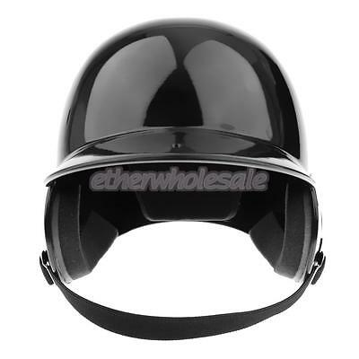 Full Size Black Double Flap Batting Helmet pour Baseball / Softball Batters