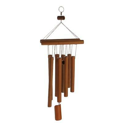Raft Décor Windchimes Wind Chime Bamboo 8 Tubes Hanging Ornament Garden