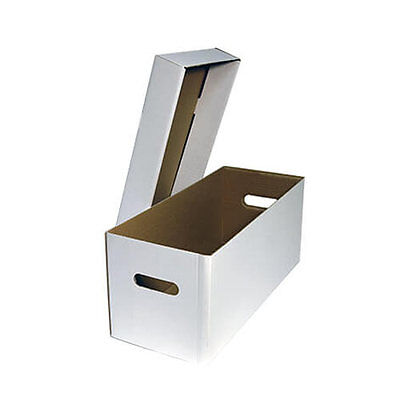 """5 x Cardboard Record Storage Boxes - Hold up to 50 x 12"""" Vinyl Records"""