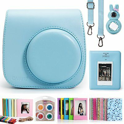 Fujifilm Instax Mini 8 Instant Color Film Camera Accessories Bundle Set Blue New