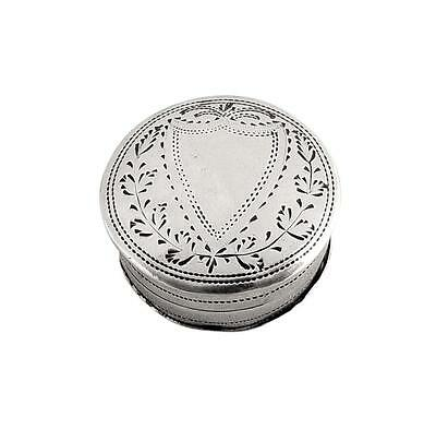 Antique Georgian Sterling Silver Patch Box - 1803
