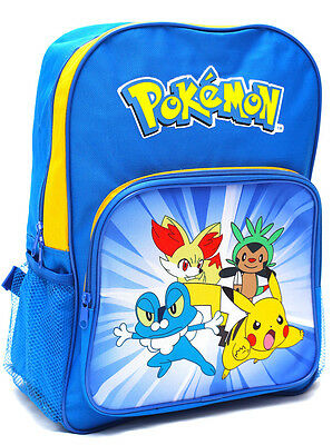 New Large Kids Backpack School Bag Boys Pokemon Go Pikachu Children Toy's Gift Y