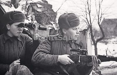 WW2 Picture Photo Lady Killers Female Russian Snipers  1580
