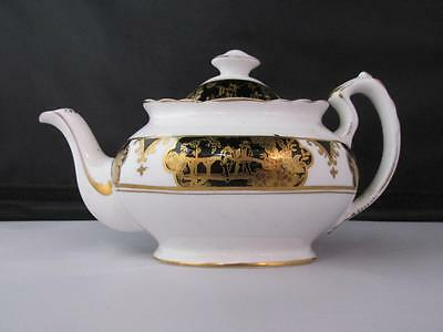 Lovely Vintage Plant Tuscan China Tea Pot circa 1930/40s Chinese Decoration Gilt