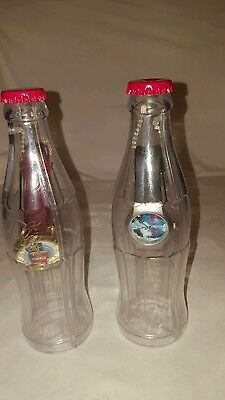 "Lot of 2 2002 ""COCA-COLA WATCH in a BOTTLE"" Coca-Cola Watches in Bottles"