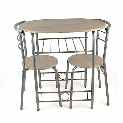 3pc Breakfast Table And Chairs Set Space Saving Kitchen Dining Furniture Bistro