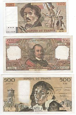 Set Of 3 Classic French Notes.