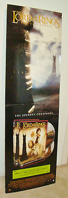 2002 LORD OF THE RINGS TWO TOWERS  CARDBOARD STAND up Promotional DISPLAY POSTER