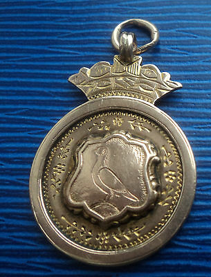 Super 9ct Rose Gold  Pigeon Fob Medal / Pendant  1924 Chester