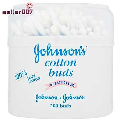 Johnsons Cotton Buds Perfect For Babies Gently Cleans Pure Cotton Material 6x
