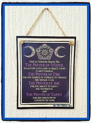 pagan/wiccan god and goddess chant plaque