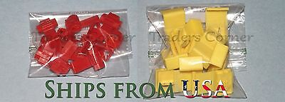 20PCs Red/Yellow Quick Lock/Snap On Splice Crimp Wire Electrical Cable Connector