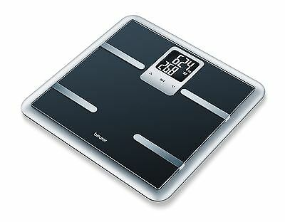 Beurer BG40 Glass Black Diagnostic Smart Analyser Digital Bathroom Scales BMI