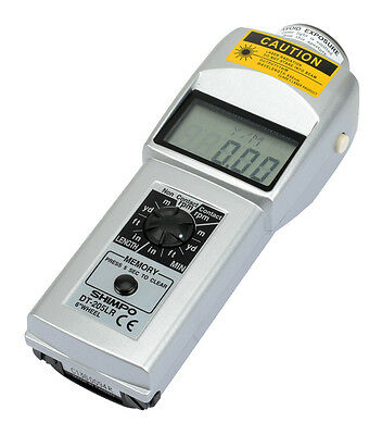 SHIMPO DT-205LR Handheld Tachometer with LCD Screen & 6 Inch Wheel