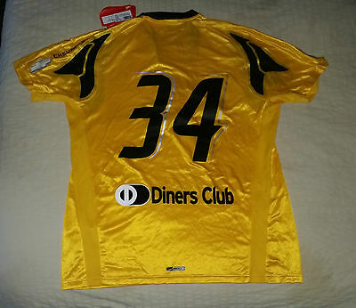 AEK ATHENS football shirt jesey player issue #34# PUMA size XL 2007/08 NEW
