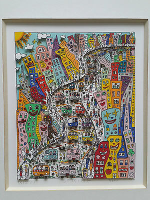 """James Rizzi  4 different 3-D Constructions, titel """"Foor Seasons"""" from 1988"""