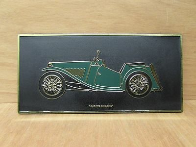 #RARE# - Vintage MG TC 1945 CAR WALL PLAQUE ~ 1970's ~ Leyland ~  UNIPART ~ TGS