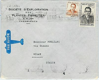 59249 -    MOROCCO - POSTAL HISTORY: COVER to ITALY - 1965 - ARCHITECTURE