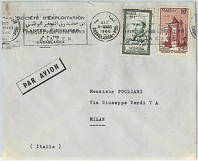 59267 -    MOROCCO - POSTAL HISTORY: COVER to ITALY - 1960