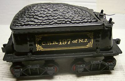 Coal Tender CRR 197 New Jersey w/ Coal Load with box - Not a Decanter
