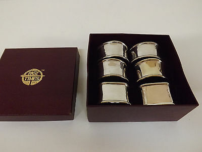 Boxed Set Of Six  Past Times Napkin Rings