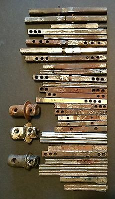 Vtg Antique Architectural Steel Door Knob Hardware Shaft Part Repair Lot Of 33