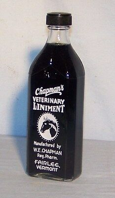 Vintage Chapman's Veterinary Liniment Bottle with Horse's Head
