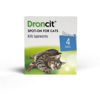 Droncit Spot On Tape Wormer for Cats (4 Pack)