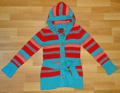 Pumpkin Patch Multi Coloured Hooded Cardigan Girls Size 7 As New