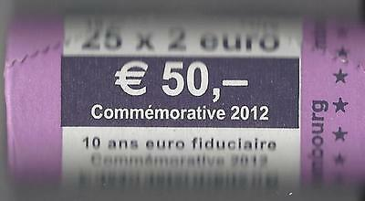 Luxemburg / Luxembourg ~ 2 Euro Rolle ~ 10 Jahre Euro-Bargeld ~ 2012