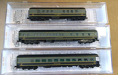 MICRO TRAINS N Scale Canadian National Three Passenger Car Lot