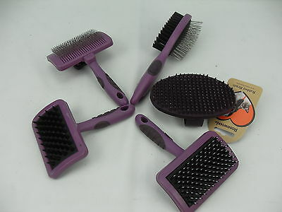 Rosewood Dog Grooming Brushes Self clean Slicker, Massage & Porcupine Brush