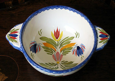 Henriot Quimper : A faience Bowl decorated with abstract flora design