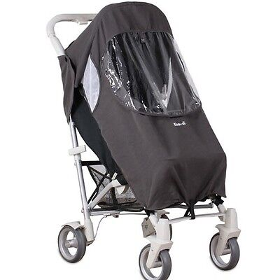 Koo-Di Keep Me Dry Universal Stroller Rain Cover with Pocket and Hood - Grey