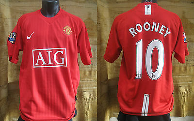 maillot  MANCHESTER UNITED 2007-09 ROONEY  shirt maglia jersey