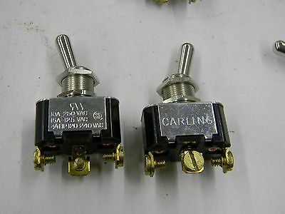 2 Pcs New Carling SPDT On-On Toggle Switch 2FB54 10A 250vac 15A 125vac 3/4HP A4
