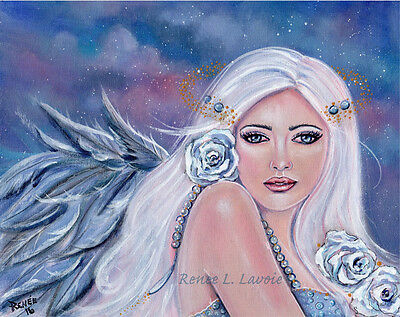 Angel Charmiene  greeting card AND magnet by Renee L Lavoie made in the USA