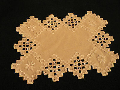 HARDANGER FINISHED  CLOTH 11-1/2x 8- 1/2  INCHES INTRCATE NEEDLE WORK DESGIN